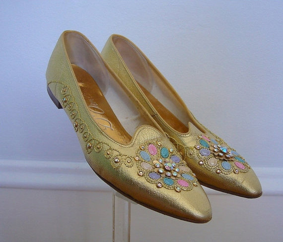 1960s Gold Shoes