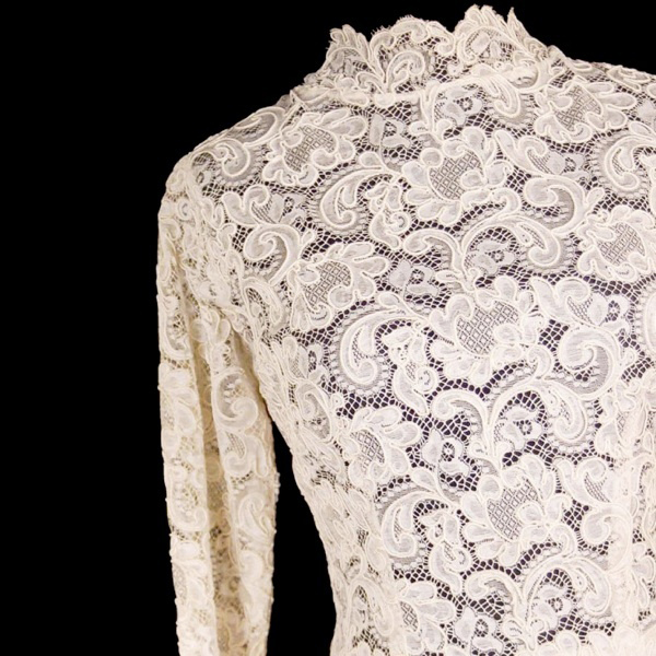 Vintage Ivory Venetian Point Lace Wedding Gown
