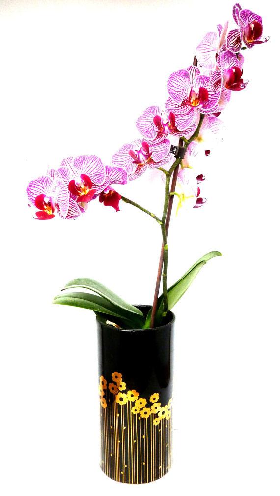 SADLER golden garden vase