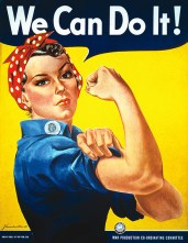 WW2 1940s Wartime poster: Rosie the Riveter