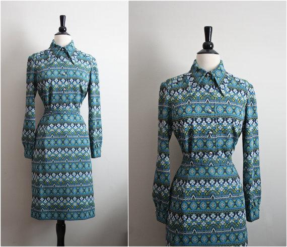 1960 Marco Polo Mod Suit Dress 2 Piece