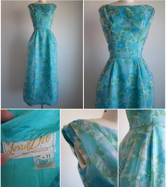 Vintage 1960s Formal Dress