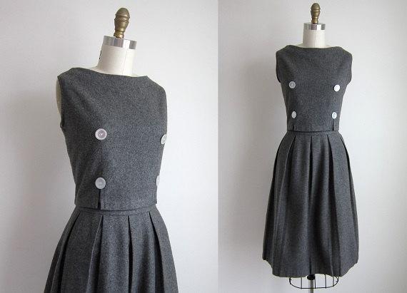 Vintage 1960s Wool Dress