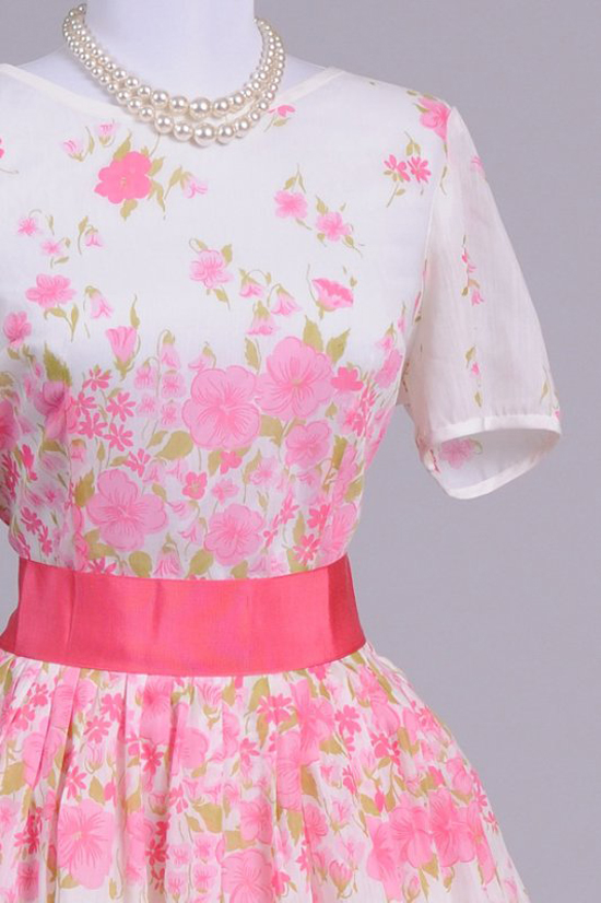 1950 Gloria Swanson Vintage Day Dress