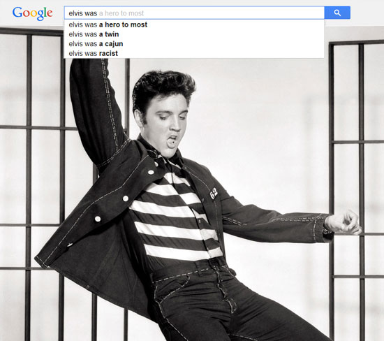 Google results for Elvis Presley
