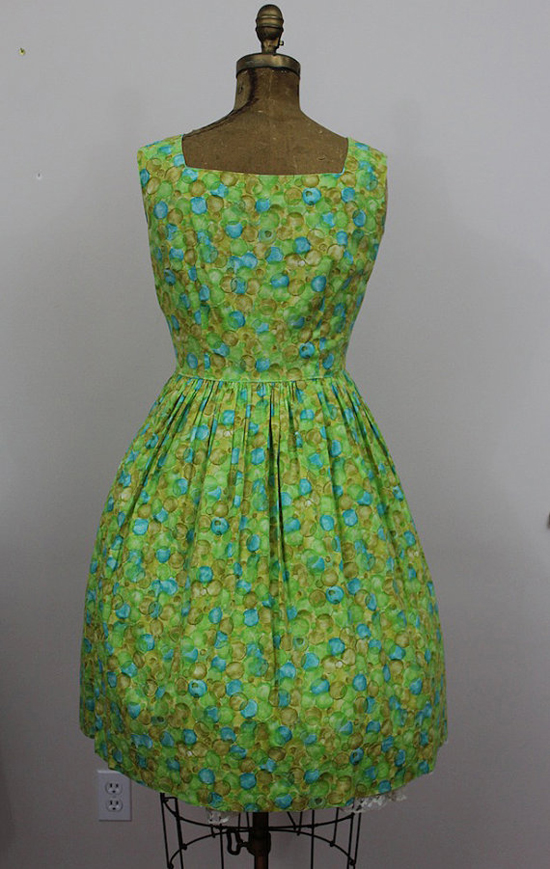 1950s Green Sundress