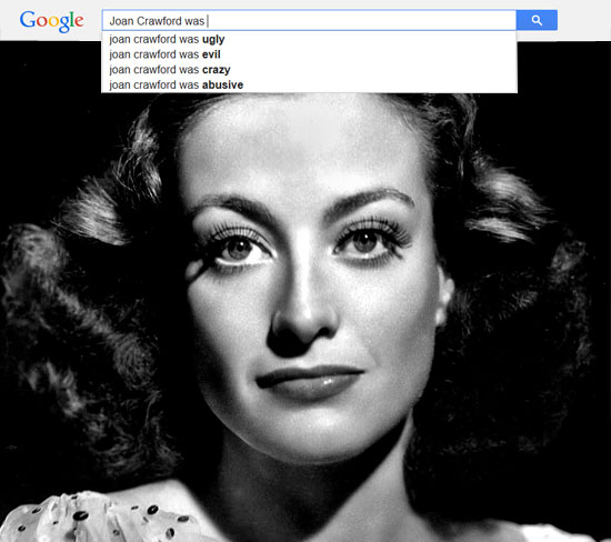 Google results for Joan Crawford