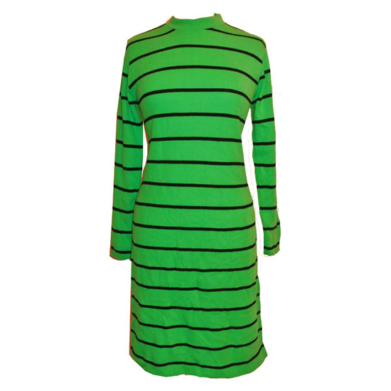 Mod 1960s stripe knitted sweater dress
