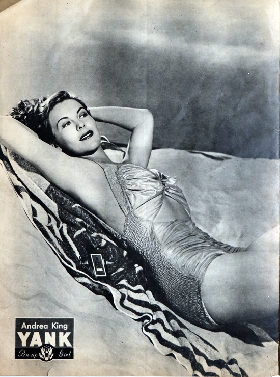 WW2 Pin-Up in Yank Magazine: Andrea King