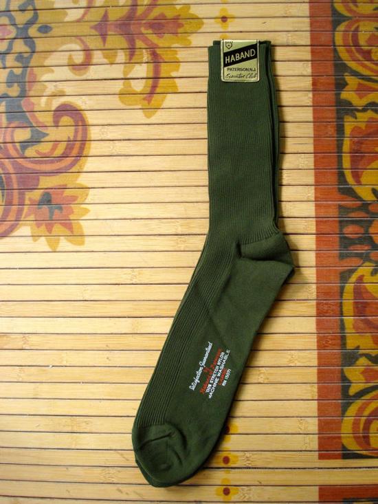Vintage 1960s Mens Dress Socks Olive Green