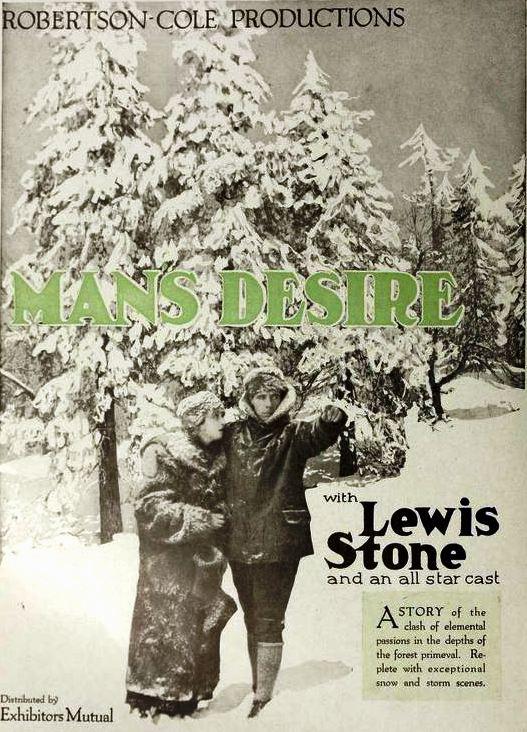 Man's Desire Back in 1919