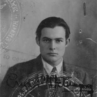 Ernest Hemingway's Passport Photo