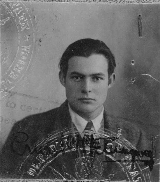 Ernest Hemingway's Passport Photop