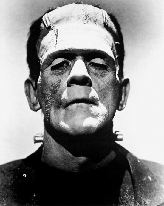 Boris Karloff as Frankenstein's Moster
