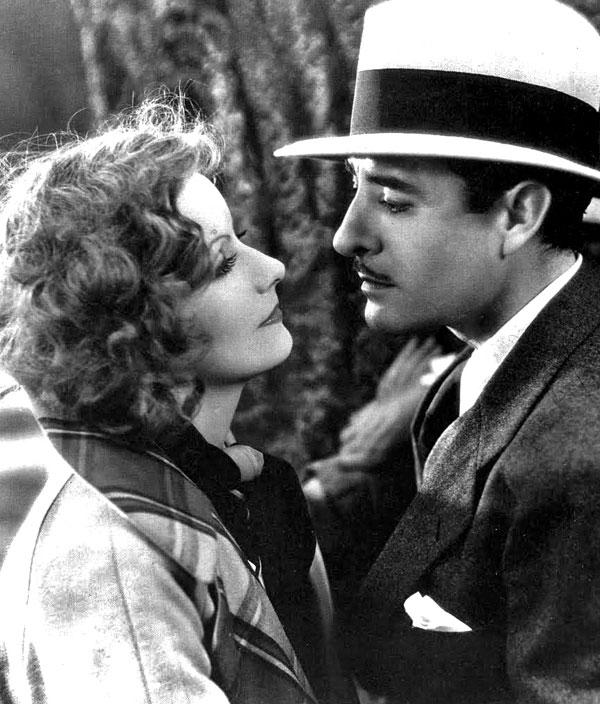 John Gilbert and Greta Garbo