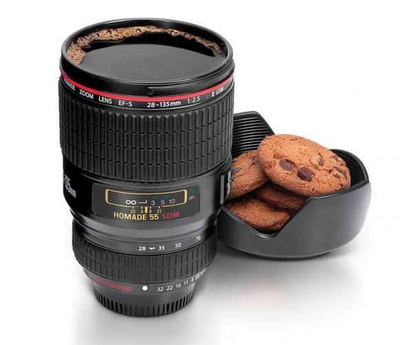 Camera Lens Cup Black