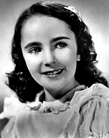 Young Liz Taylor before she was famous