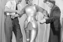 Ingrid Bergman's Costume Fitting for Joan Of Arc