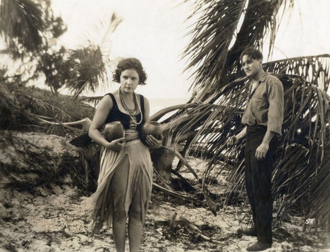 Norma Talmadge and Wyndham Standing in The Isle of Conquest (1919)