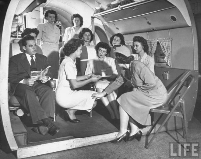 Air Hostess Training in the 1940s