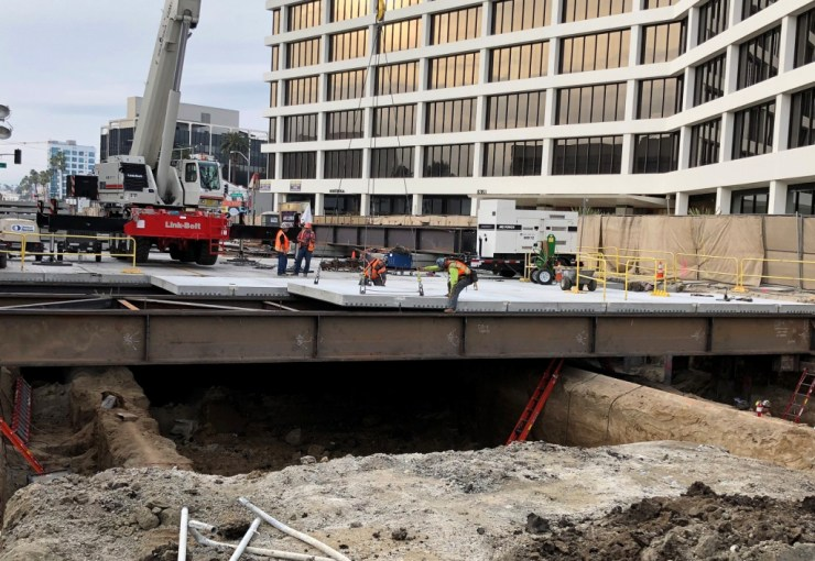 Image result for beverly hills metro construction photo