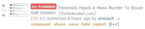 Feminists Hijack A Mass Murder To Boost Self-Esteem