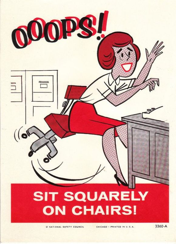 Seriously, you gals can't even sit on chairs properly!