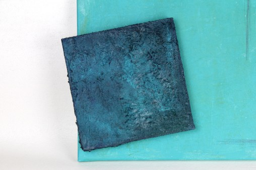 Blue Square - Acrylic Concrete Painting / Acryl-Beton Bild / Weibach2 / Oliver Neumann