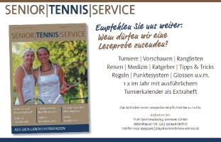 Senior Tennis Service Magazin
