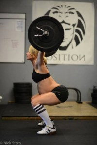 Photo credit: Nick Stern, Caption: Lea-Ann Ellison via CrossFit/Facebook