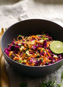 sweet potato noodle salad healthy fall recipe