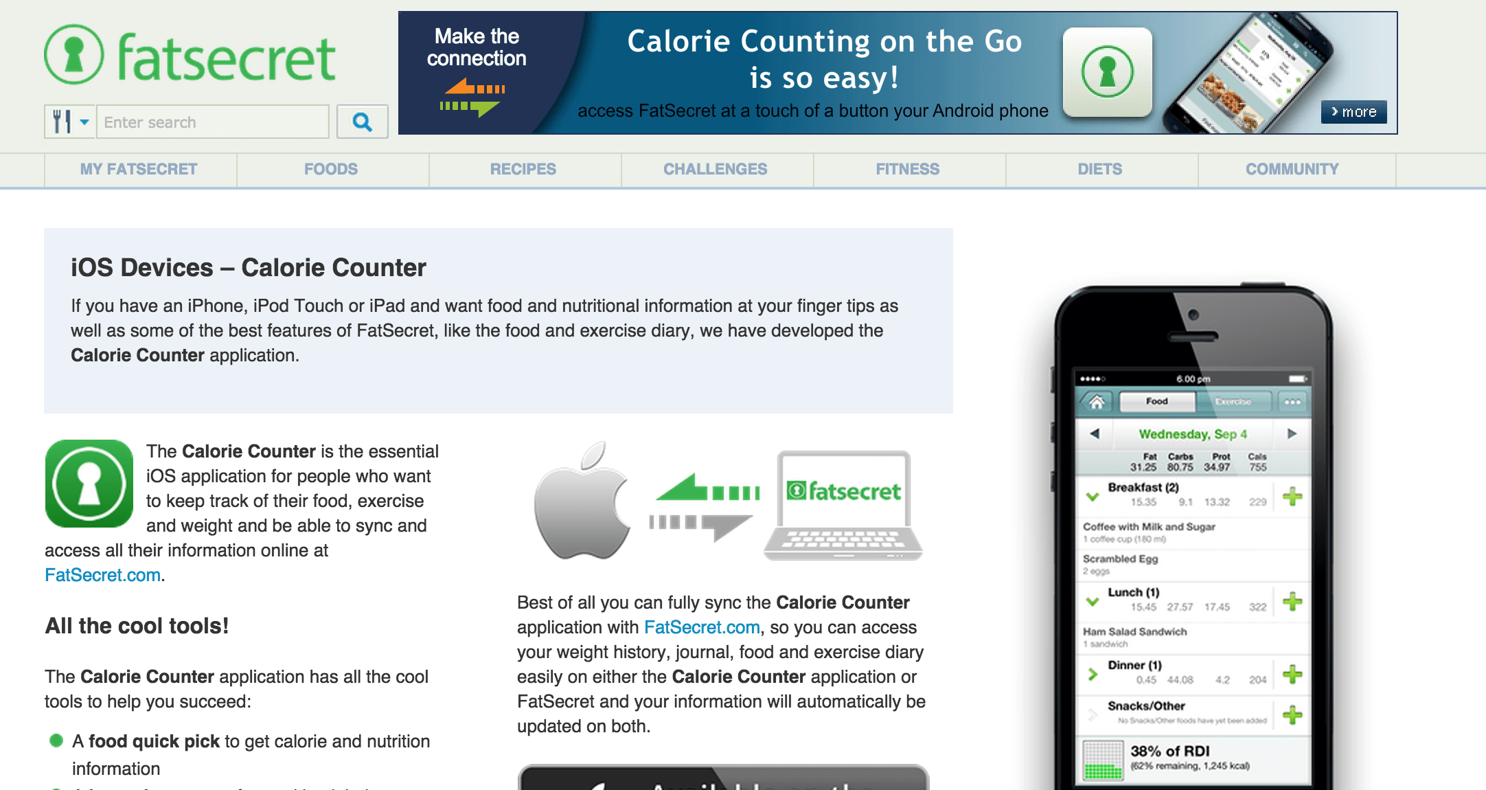 Nutritional Information Calorie Counter