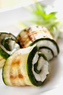 Healthy Snack Recipes - Zucchini and Ricotta Rolls  Recipe