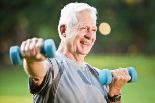 old man working out