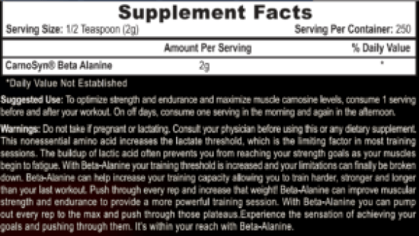 Beta Alanine Dosage