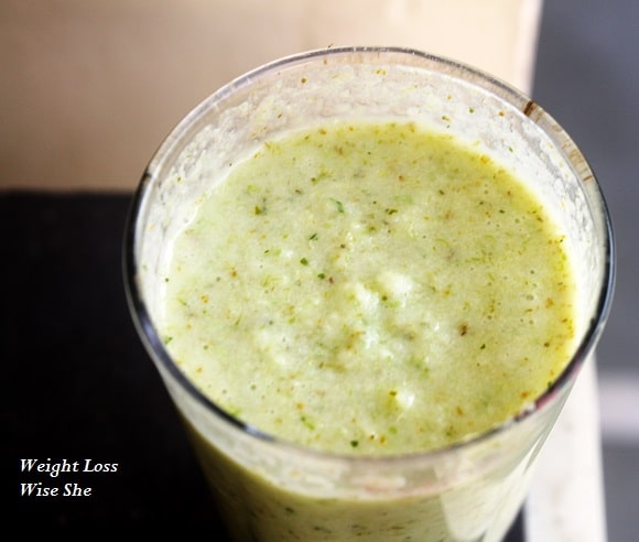 Brocolli and pineapple smoothie