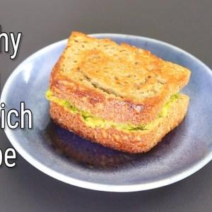 Healthy Veg Sandwich Recipe - Masala Bread Sandwich Toast For Breakfast | Skinny Recipes