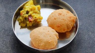 Poori Masala - Potato Baji Recipe - Potato Masala - ASMR   Skinny Recipes