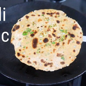 Garlic Roti - Chilli Garlic Roti Recipe - Immune Boosting Garlic Chapathi  | Skinny Recipes
