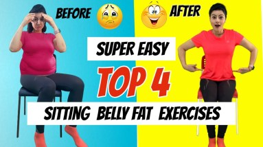 Top 4 Easy Belly Fat Exercises For Beginners | How To Lose Belly Fat Easily At Home - Natasha Mohan
