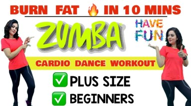 Simple Zumba Dance Workout For Beginners At Home -  10 Mins Easy Cardio Exercises For Weight loss