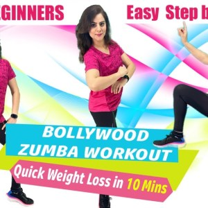 Bollywood Zumba Workout For Weight Loss -Basic Zumba Steps For Beginners At Home -Simple Zumba Steps