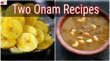 Homemade Banana Chips - Chana Dal Payasam - Kerala Onam Recipes | Skinny Recipes