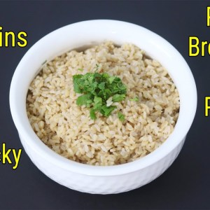 How To Cook Perfect Brown Rice In Pressure Cooker - Brown Rice For Weight Loss - Skinny Recipes