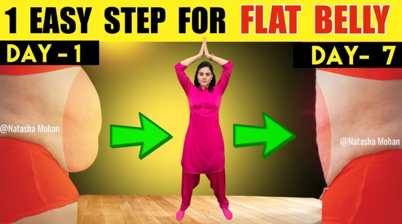 Just One Simple Yoga Exercise To Lose Belly Fat in 7 Days | Beginners Yoga Pose For Flat Stomach