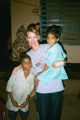 March 2005 with Santosh & Daina