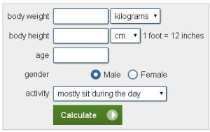 weight watchers daily points calculator