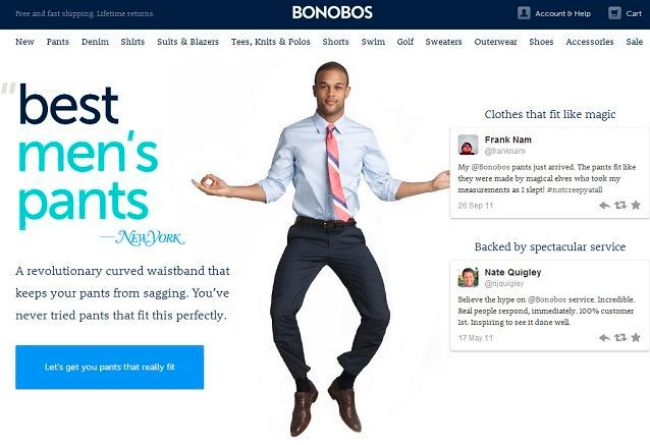 Bonobos competitive positioning