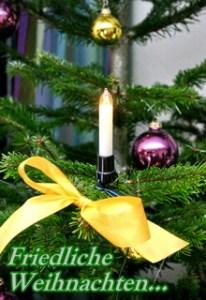 Weihnachtskarte  kostenlos, Weihnachtsbaum Christbaum, Kerze, Schleife