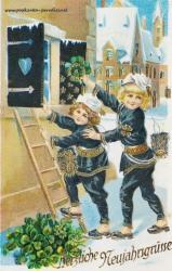 Neujahrskarte 1931 Schornsteinfeger